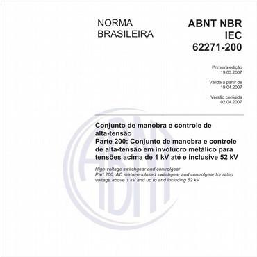 NBRIEC62271-200 de 03/2007