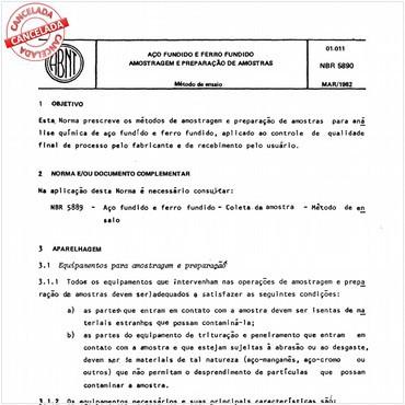 NBR5890 de 03/1982