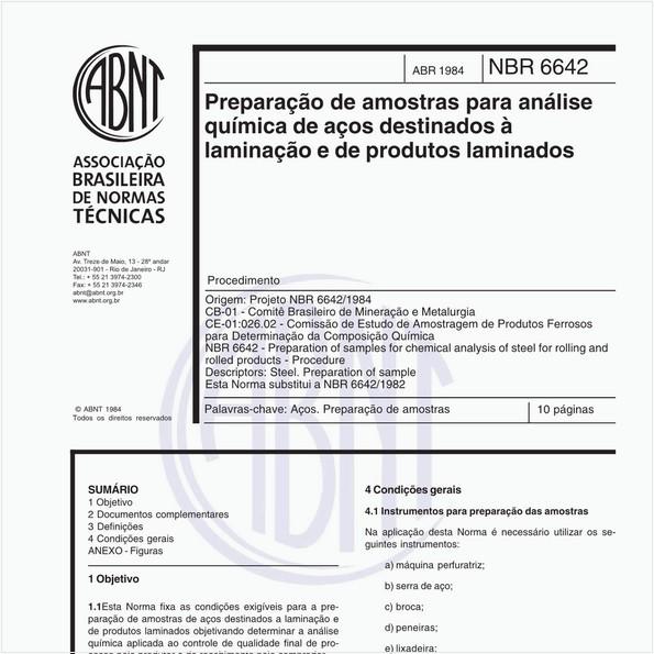 Preparação de amostras para análise química de aços destinados à laminação e de produtos laminados
