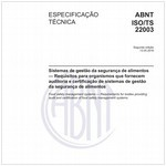 ABNT ISO/TS22003