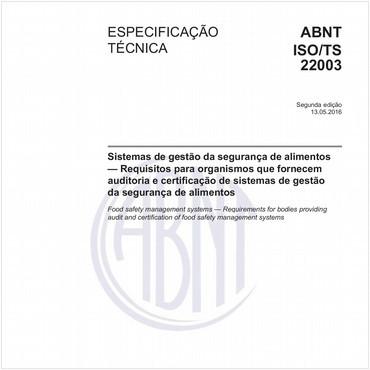 ABNT ISO/TS22003 de 05/2016