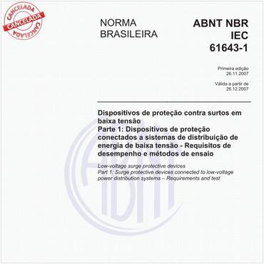 NBRIEC61643-1 de 11/2007
