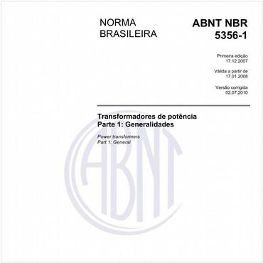 NBR5356-1 de 12/2007