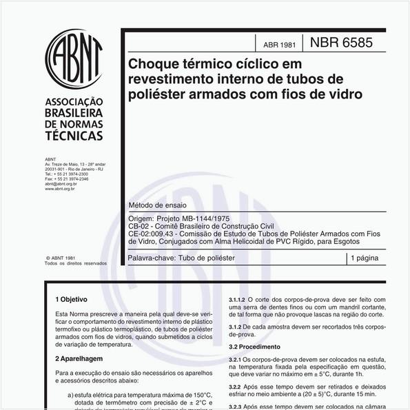 NBR6585 de 04/1981