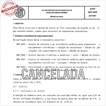 NBR5409 de 09/1981