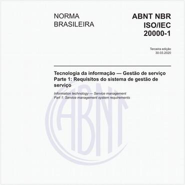 NBRISO/IEC20000-1 de 03/2020