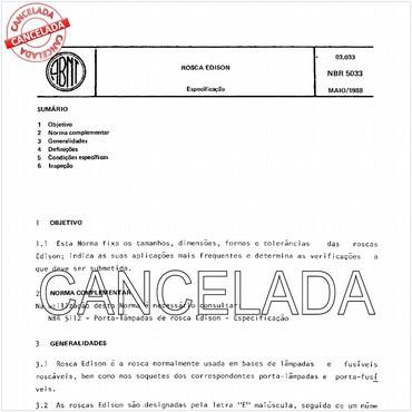 NBR5033 de 05/1988