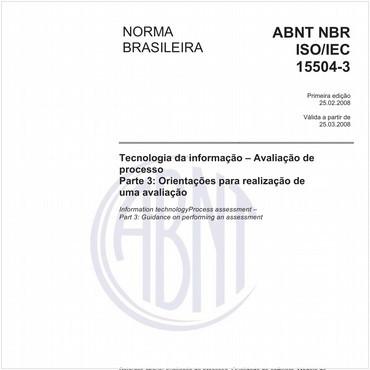 NBRISO/IEC15504-3 de 02/2008
