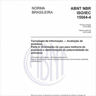 NBRISO/IEC15504-4 de 02/2008