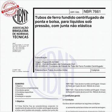 NBR7661 de 04/1985