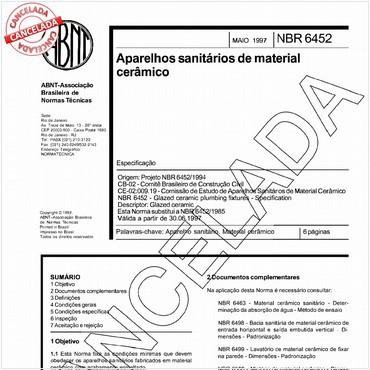 NBR6452 de 05/1997