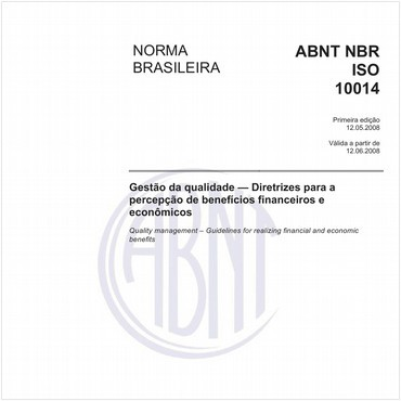 NBRISO10014 de 05/2008