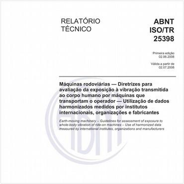 ABNT ISO/TR25398 de 06/2008