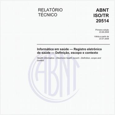 ABNT ISO/TR20514 de 06/2008