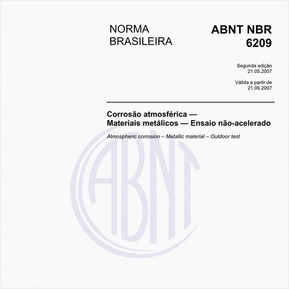 Corrosão atmosférica - Materiais metálicos - Ensaio não-acelerado