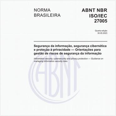 NBRISO/IEC27005 de 10/2019