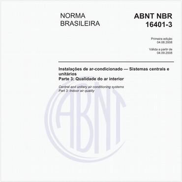 NBR16401-3 de 08/2008