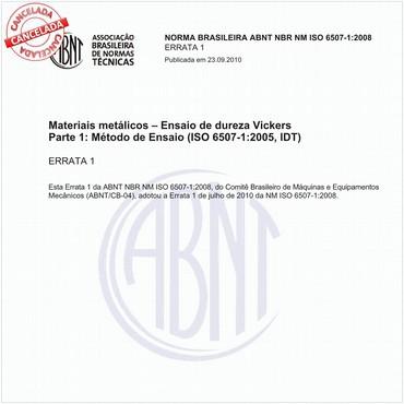 NBRNM-ISO6507-1 de 08/2008