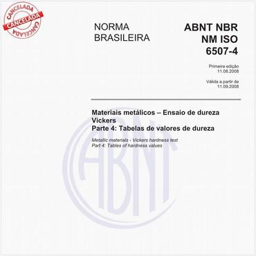 NBRNM-ISO6507-4 de 08/2008