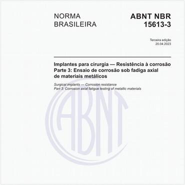 NBR15613-3 de 08/2016