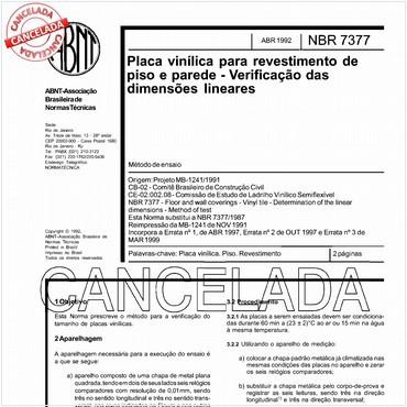 NBR7377 de 04/1992