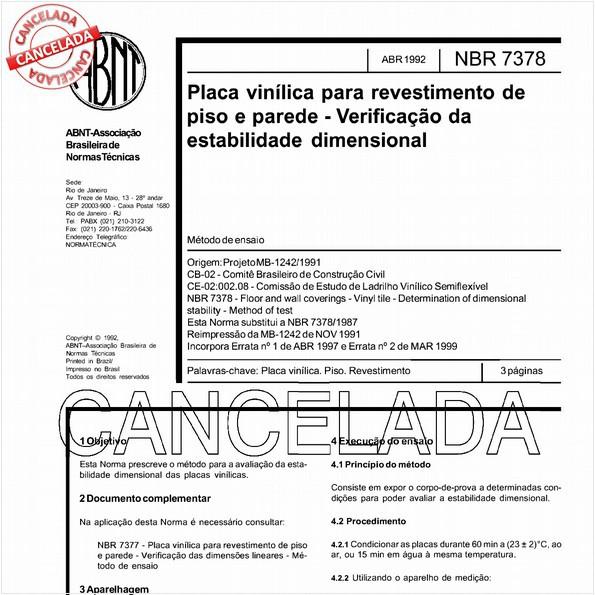 NBR7378 de 04/2006
