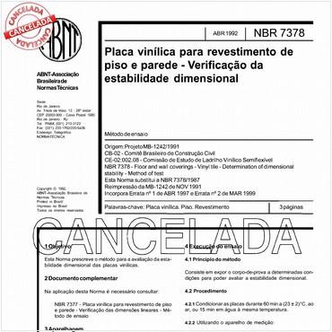 NBR7378 de 04/1992