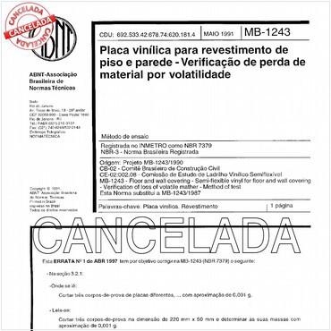 NBR7379 de 05/1991