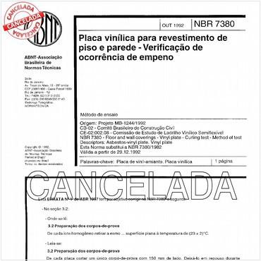 NBR7380 de 10/1992