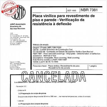 NBR7381 de 09/1995