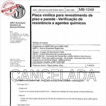 NBR7385 de 01/1990
