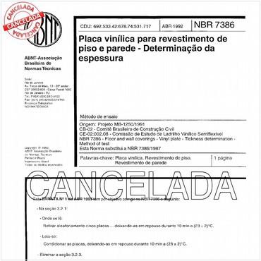 NBR7386 de 04/1992