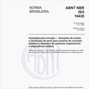 NBRISO16428 de 11/2008