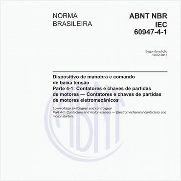 NBRIEC60947-4-1 de 02/2018