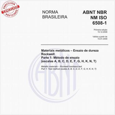 NBRNM-ISO6508-1 de 12/2008
