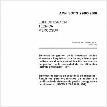 AMN-ISO/TS22003 de 12/2008