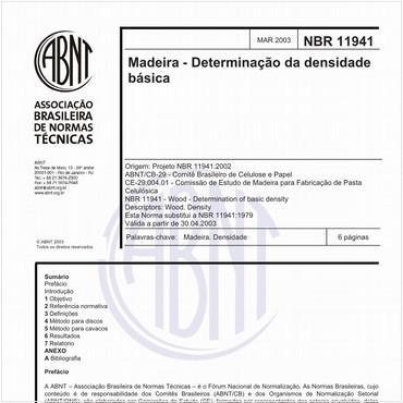 NBR11941 de 03/2003
