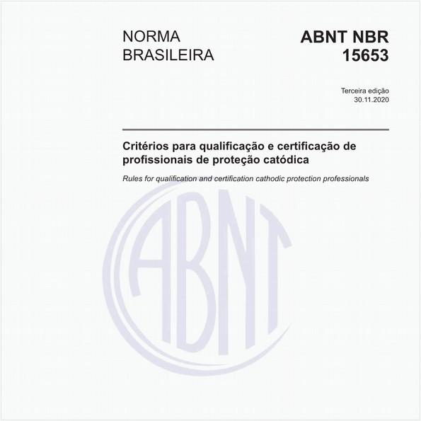 Critérios para qualificação e certificação de profissionais de proteção catódica