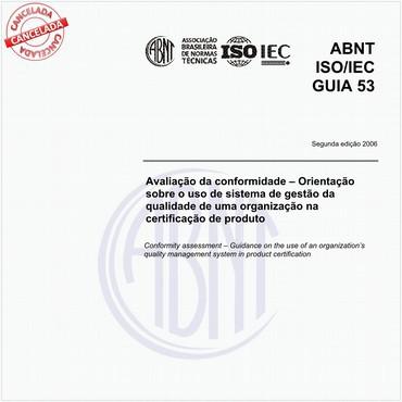 ABNT ISO/IEC GUIA53 de 08/2006