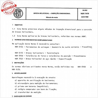 NBR7479 de 08/1982