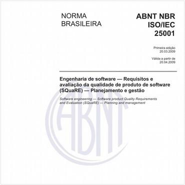 NBRISO/IEC25001 de 03/2009