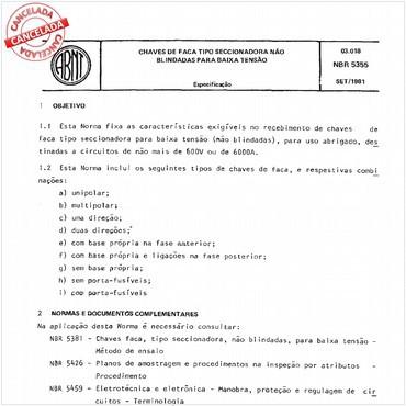 NBR5355 de 09/1981