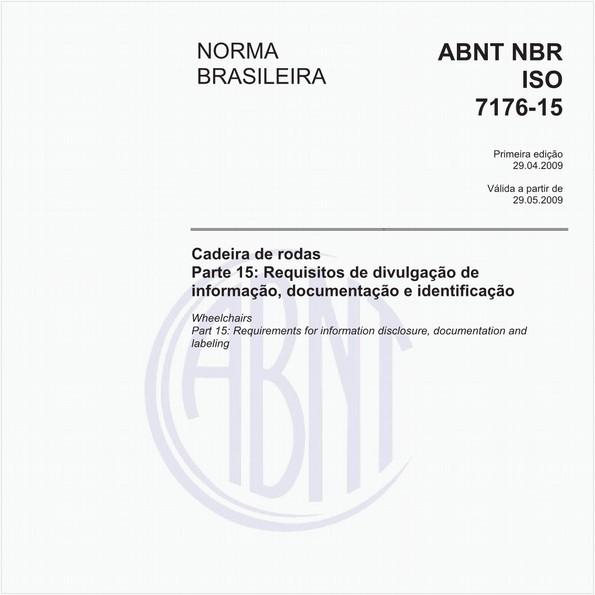 Cadeira de rodas - Parte 15: Requisitos de divulgação de informação, documentação e identificação