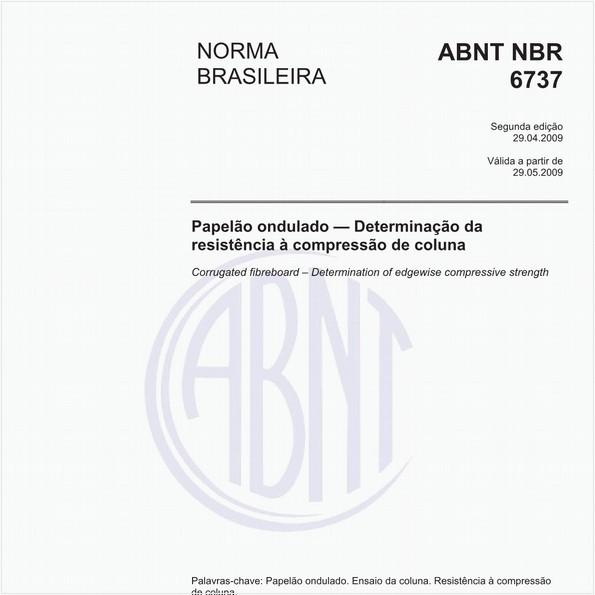 Papelão ondulado - Determinação da resistência à compressão de coluna