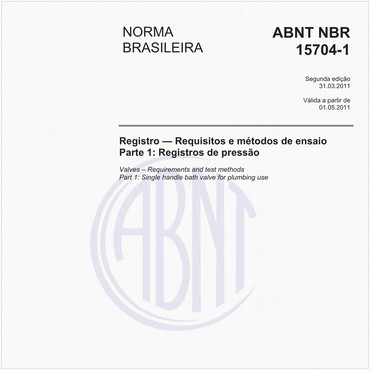 NBR15704-1 de 03/2011