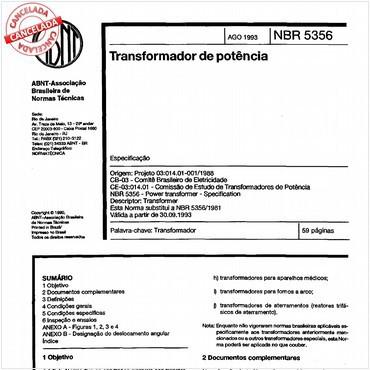 NBR5356 de 08/1993