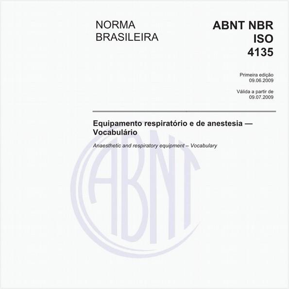 Equipamento respiratório e de anestesia - Vocabulário