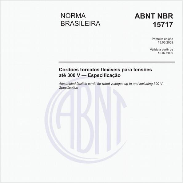 Cordões torcidos flexíveis para tensões até 300 V — Especificação
