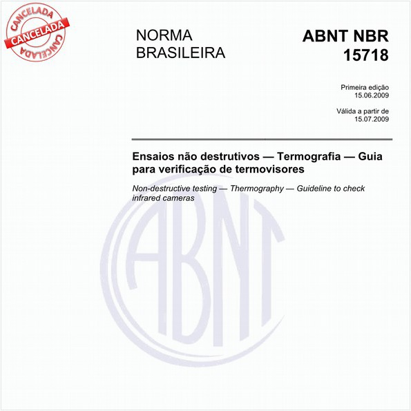 Ensaios não destrutivos — Termografia — Guia para verificação de termovisores