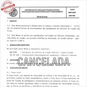 NBR8437 de 04/1984
